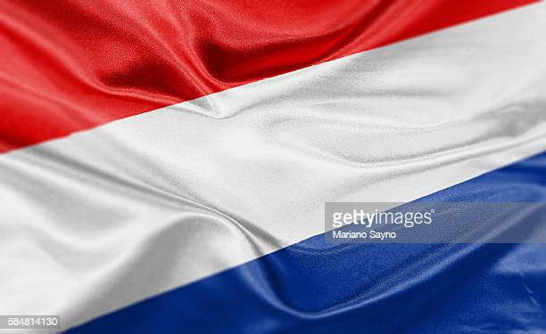 high resolution digital render of netherlands flag - niederlande stock-grafiken, -clipart, -cartoons und -symbole