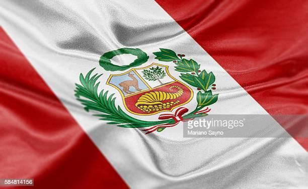 ilustraciones, imágenes clip art, dibujos animados e iconos de stock de high resolution digital render of peru flag - perú