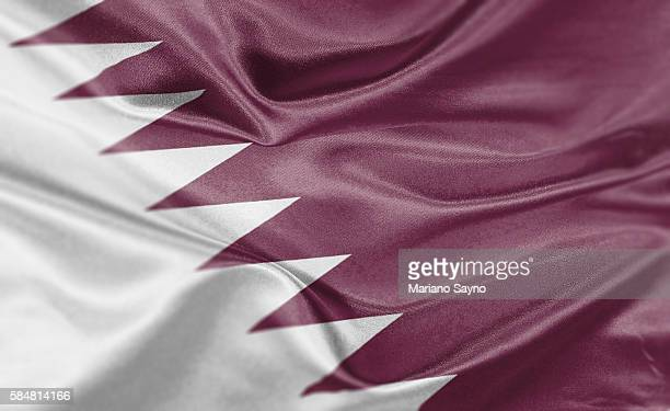 ilustraciones, imágenes clip art, dibujos animados e iconos de stock de high resolution digital render of qatar flag - qatar