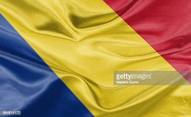 High resolution digital render of Romania flag