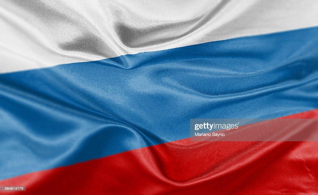 High resolution digital render of Russia flag : Illustrationer