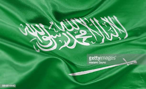 High resolution digital render of Saudi Arabia flag