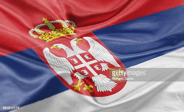 High resolution digital render of Serbia flag