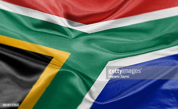 high resolution digital render of south africa flag - south africa stock illustrations