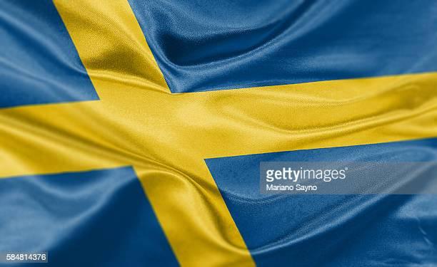 high resolution digital render of sweden flag - sweden stock illustrations