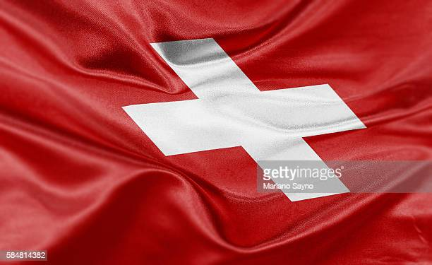 high resolution digital render of switzerland flag - all european flags stock illustrations