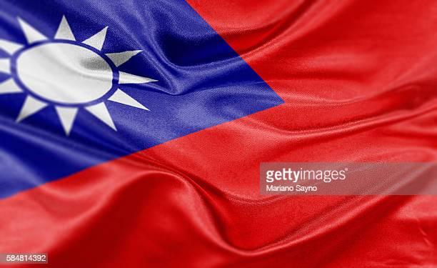High resolution digital render of Taiwan flag