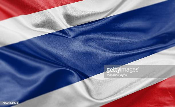 high resolution digital render of thailand flag - thailand stock illustrations