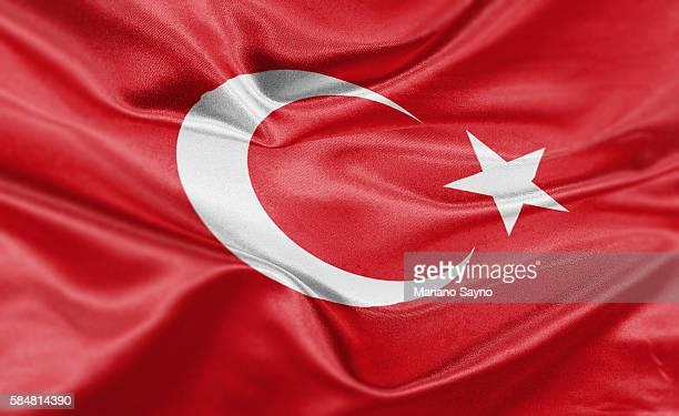 high resolution digital render of turkey flag - turkey middle east stock illustrations