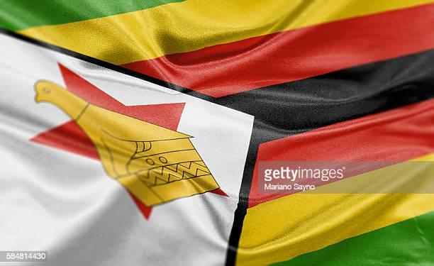 ilustrações, clipart, desenhos animados e ícones de high resolution digital render of zimbabwe flag - zimbabwe