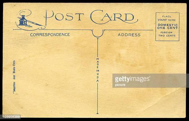 High resolution vintage postcard