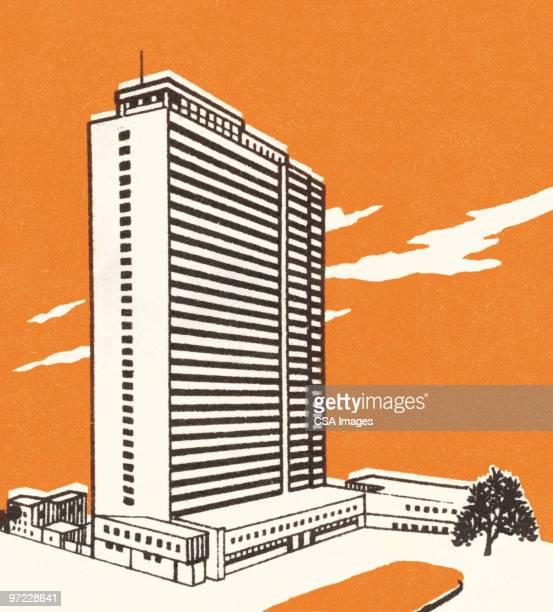 illustrations, cliparts, dessins animés et icônes de high rise building - gratte ciel