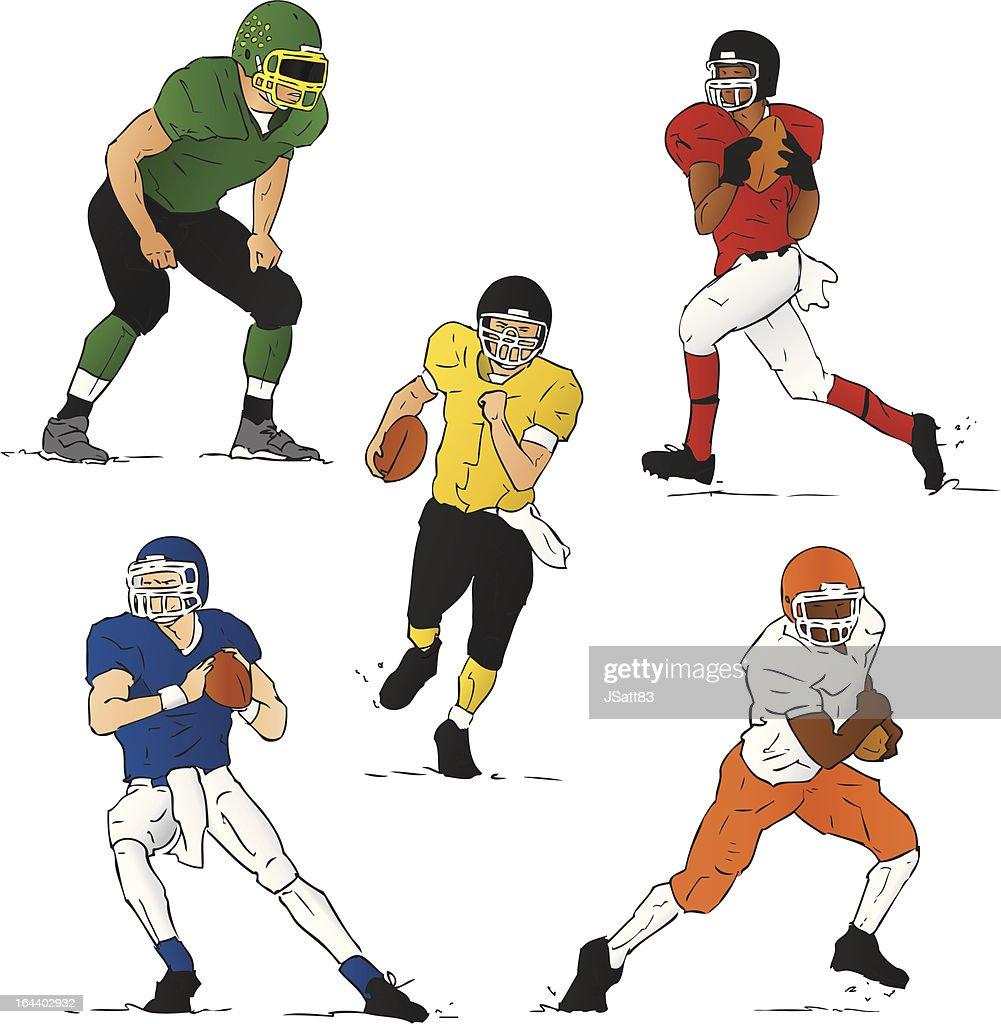 High School Football (Vector Illustration)