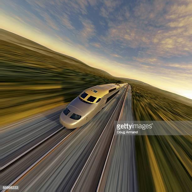 high speed train - 高速列車点のイラスト素材/クリップアート素材/マンガ素材/アイコン素材