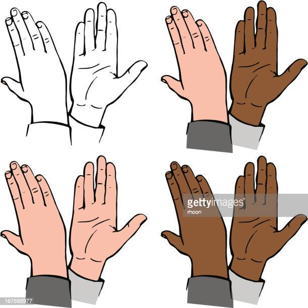 high-five - slapping stock illustrations