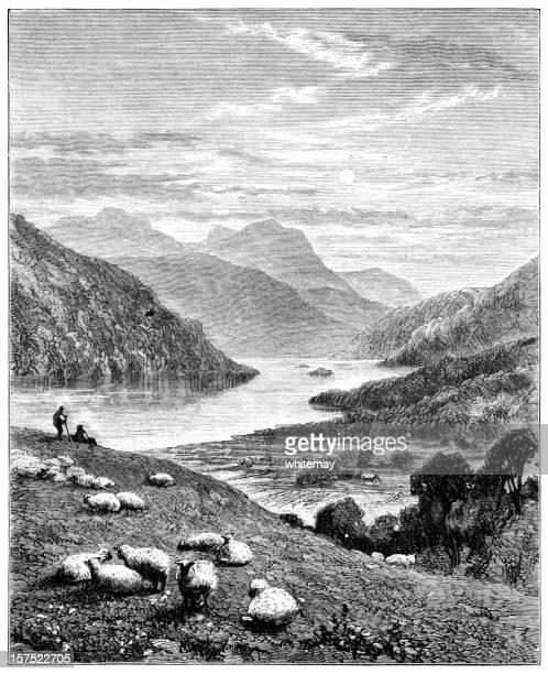 Highland scenery - Victorian illustration