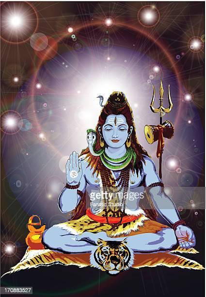 hindu god shiva - シバ神点のイラスト素材/クリップアート素材/マンガ素材/アイコン素材