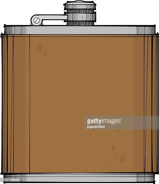 hip flask - flask stock illustrations