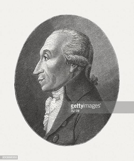 hippel the elder (1741-1796), german statesman, wood engraving, published 1882 - governmental occupation stock illustrations, clip art, cartoons, & icons