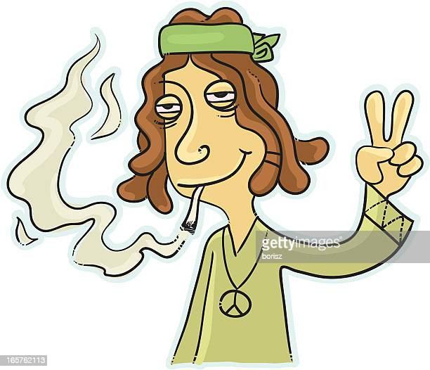 Hippie smoking a doob