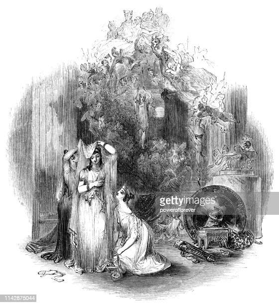 Hippolyta Talking About the Strange Tales of the Lovers - Works of William Shakespeare