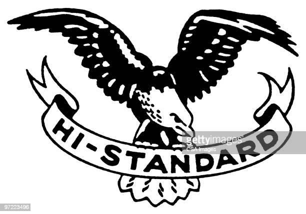 hi-standard - bald eagle stock illustrations