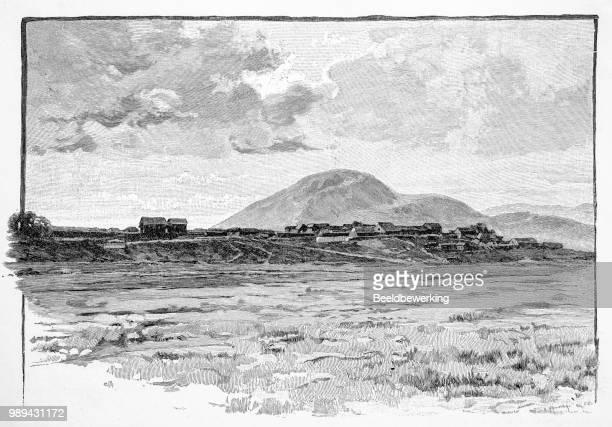 Historic engraving mandritsara settlement later city madagascar small in 1895