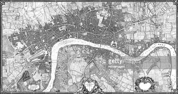 Historic map of London (18th Century)