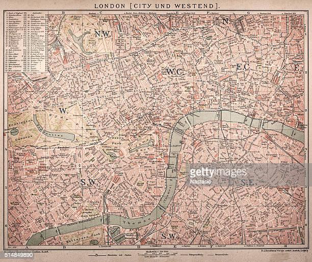 historische karte von london (18. jahrhundert - london und umgebung stock-grafiken, -clipart, -cartoons und -symbole