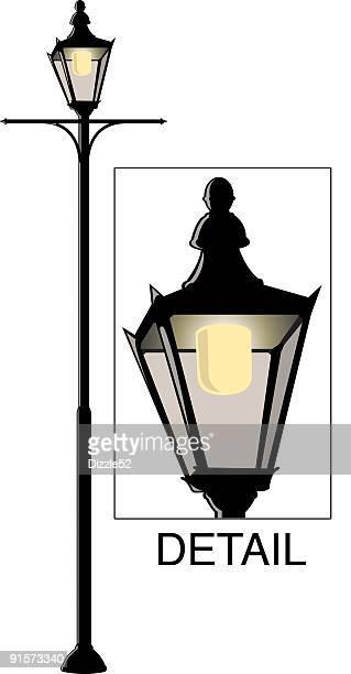 歴史豊かな街の光 - ガス燈点のイラスト素材/クリップアート素材/マンガ素材/アイコン素材