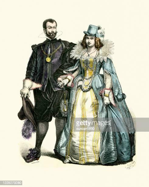 オランダの歴史ファッション、17世紀のファッション - 17世紀点のイラスト素材/クリップアート素材/マンガ素材/アイコン素材