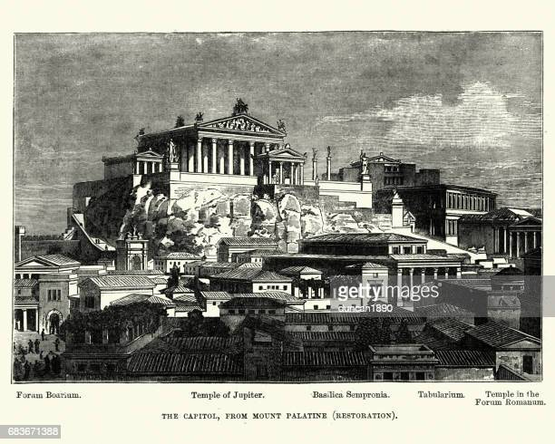 History of Ancient Rome - Capitol from Mount Palatine