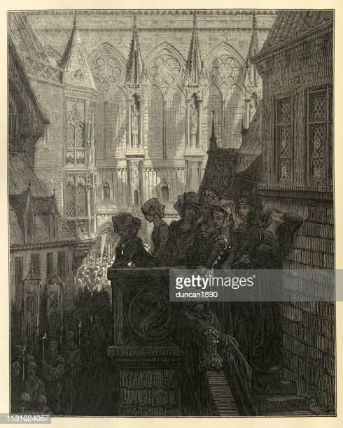 history of crusades, bones of st louis returned to notre dame - senegal stock illustrations, clip art, cartoons, & icons