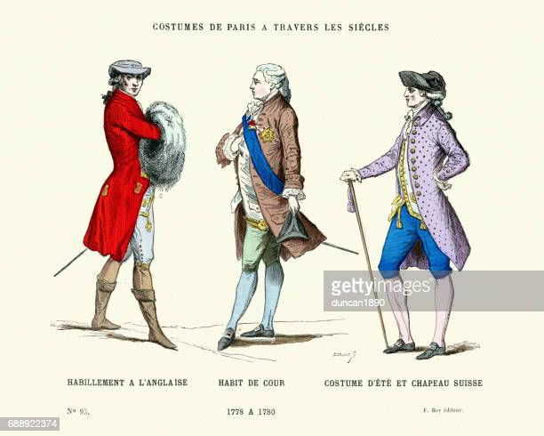 History of Fashion, 18th Century Gentlemen's Costumes