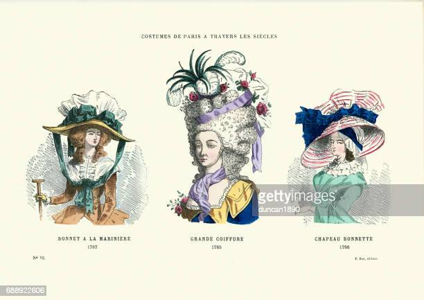 History of Fashion, 18th Century Hats and Hairstyles