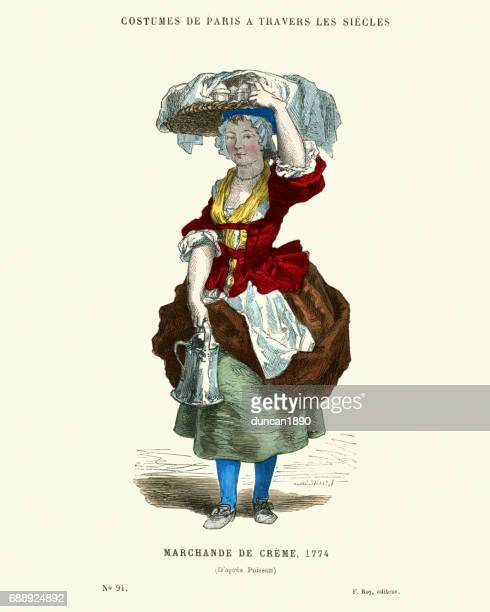 History of Fashion, 18th Century Marchande de Creme