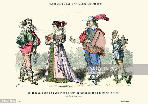 History of Fashion - Lords, Lady and Page 1633