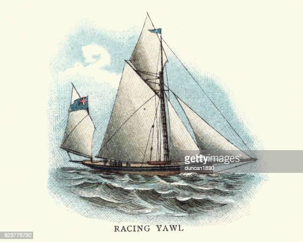 History of Ships - Racing Yawl, 19th Century