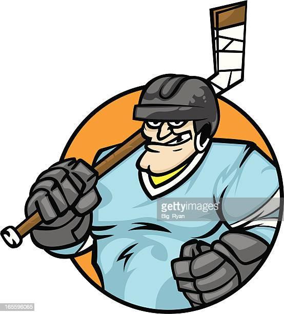 hockey guy - ice hockey uniform stock illustrations