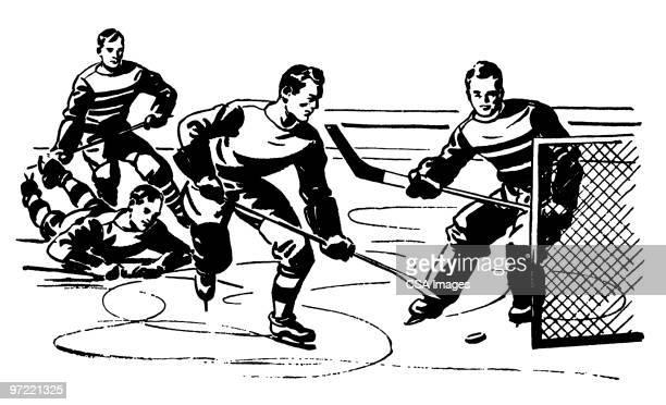 hockey - ice hockey uniform stock illustrations