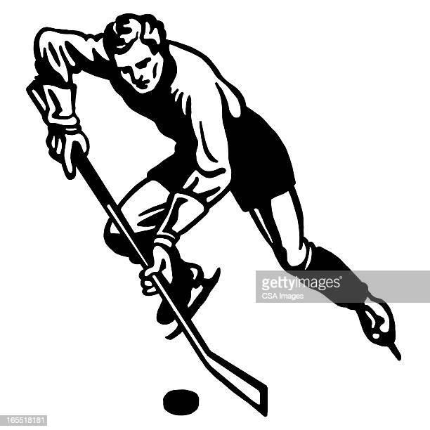 hockey player - ice hockey uniform stock illustrations