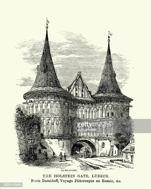 Holstein Gate, Lubeck, Germany, 19th Century