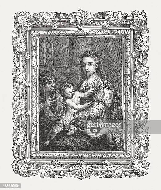 Holy Family with St. John and St. Anne, published 1878