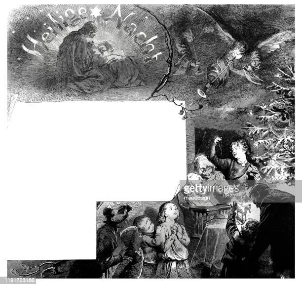 holy night scene with copy space - 1887 stock illustrations, clip art, cartoons, & icons