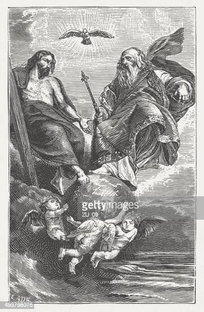 Holy Trinity, by Peter Paul Rubens, wood engraving, published 1881