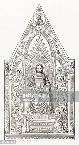 Holy Trinity, christelijke symboliek gravure