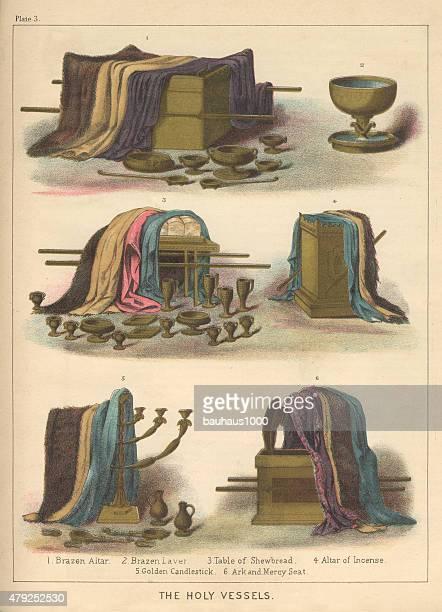 聖血管をジェーイッシュ司祭聖書の彫りこみ文字 - ノアの方舟点のイラスト素材/クリップアート素材/マンガ素材/アイコン素材