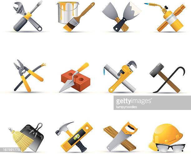 home repair icons - carpentry stock illustrations