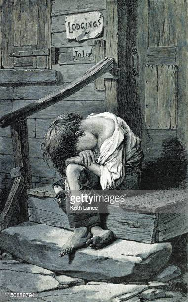 homeless child - human settlement stock illustrations