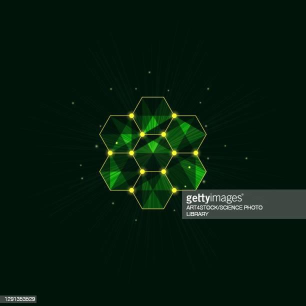 honeycomb, conceptual illustration - geometric stock illustrations